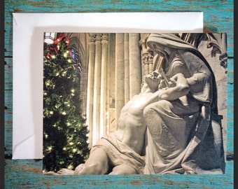 """Blank Christmas Cards """"Christmas Pieta at St. Patrick's Cathedral in New York City"""", Pack of 5"""
