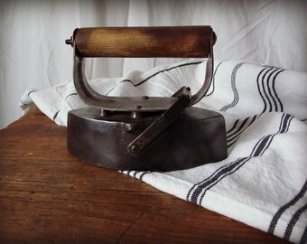 SALE Early Wood Handle Clothes Iron