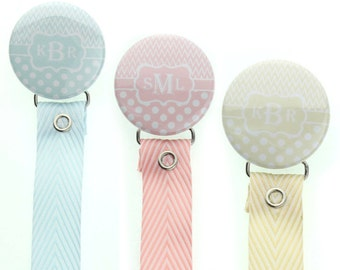 Monogram pacifier holder, personalized name pacifier clip binky holder,  custom ( 96) (MSRP 19.00)