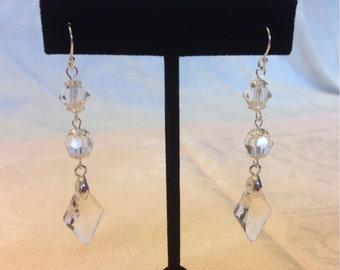 925 Swarovski Crystal Dangle Earrings