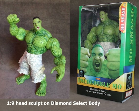 You as Superman or Superhero Action Figure, Custom Sculpted to look like You