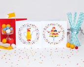 Tea & Muffin Time! Set of 12 cards (6 of each)
