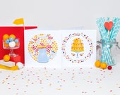 Cake & Flowers! Set of 12 cards (6 of each)