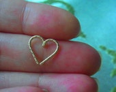 14k gold filled glitter Love Heart Cartilage / Rook / daith / Tragus / Snug / Helix / Forward Helix earring - 1pc