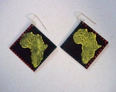 Urithi Hand Painted Africa Earrings