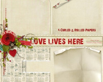 Love Lives Here Curled Paper Set