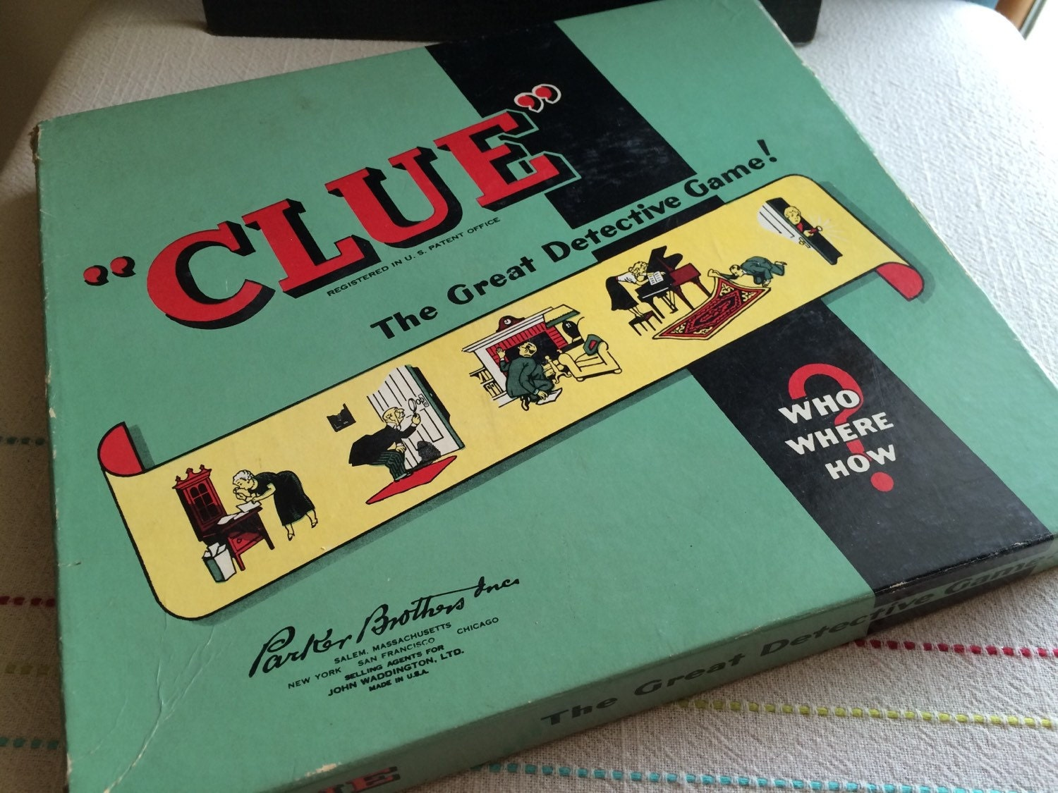 1949 1950 Clue Board Game Parker Brothers Great Detective Game
