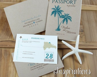 passport invitation | etsy, Wedding invitations