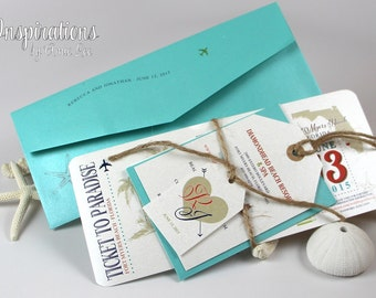 Boarding Pass Invitations, wedding invitations, ticket invitations