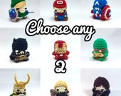 "CHOOSE ANY 2 PDF Patterns Amigurumi Keychain Miniature Doll ""Pod People"""