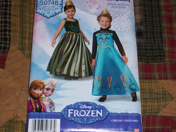 So748 1222 disney frozen child s beautiful dress patterns sizes