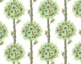 1m Lauren & Jessi Jung Botany (Trees/white) 100% cotton