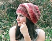 Knit Slouchy Hat Pastel Colors - Knit Hats - Womens hat - Winter hat - Womens Beanie - Winter Women Tam Hat - Vegan Hat - Winter Accessories
