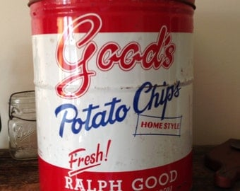 Vintage Good's Potato Chip's Can