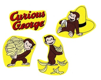 Curious George iron on appliques DIY