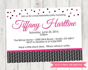Bachelorette Party Invitation - Printable Bachelorette Themed Invitation - Colors and Text Customizable