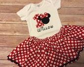 Minnie Mouse Birthday Skirt for little girls