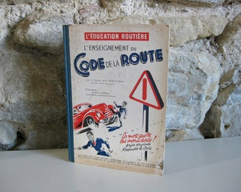 1950s French Highway Code book FREE SHIPPING