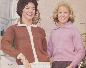 Patons Childrens (Girl's) Knitting Pattern  No 619 - Vintage 1960's