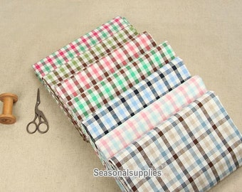 Cotton Fabric,Gingham,Plain Fabric,Medium thickness,fresh Style,diy,fabric,Sewing--1/2 yard (QT452)