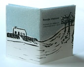 hand printed booklet, a go-walking-with-me-booklet, around the isle of Vlieland