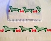 Dachshund Border embroidery file