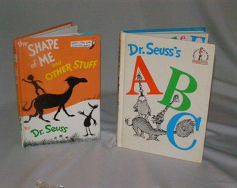 The Shape of Me and Other Stuff 1973 plus DR Seuss's ABC 1968 Dr.Theodor Seuss Geisel(1904-1991) Random House, (1973) HDCV First Editions