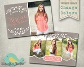 Graduation Announcement PHOTOSHOP TEMPLATE -  Senior Graduation 41