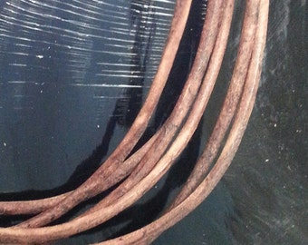 1 mm Distressed Brown color Leather 3 feet