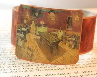 Van Gogh bracelet The Night Cafe Van Gogh jewelry mixed media jewelry