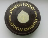 1970th - vintage soviet tin box from caramel sweet - PIENA LASE - Riga