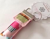 Keychain Chapstick Holder in Cupcakes