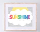 Printable You Are My Sunshine Nursery Wall Decor - Colorful Nursery Wall Art - INSTANT DOWNLOAD / PRINTABLE