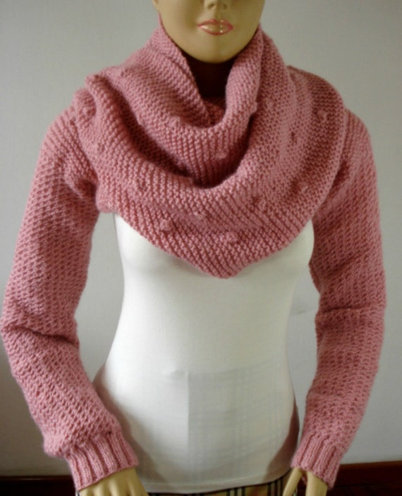 Knitting Pattern Scarf With Sleeves : KNITTING PATTERN SCARF with Sleeves Bubble by LiliaCraftParty