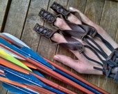 1 Archery Glove Shooting Leather Draw Hand Glove - Renaissance Medieval Ranger Rustic - Choose Your Size & Color