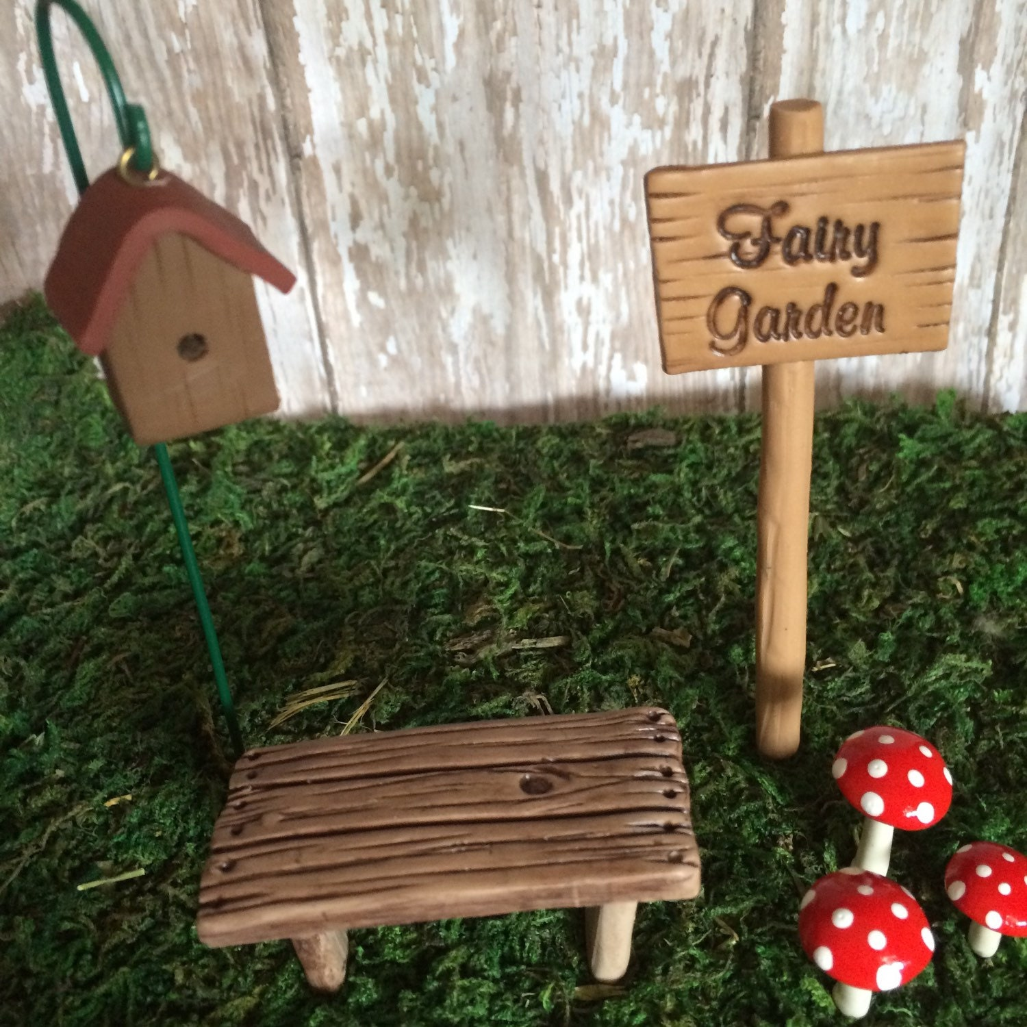 Miniature Fairy Garden Kit Terrarium Miniatures Sign Stepping