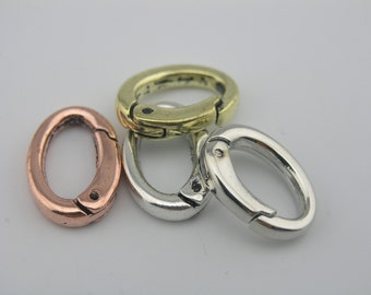 4 Colors Avai.--5pcs  Dia. 15.0x8.0mm Oval Spring Ring Clasp for Jewelry Design