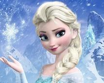 "Disney FROZEN FEVER 2015 Elsa Castle the Movie cartoon Pillow Case Zippered custom 20"" X 30"" Brand New"