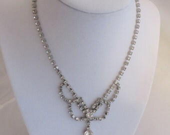 Rhinestone Special Occasion Necklace Vintage