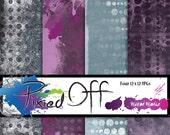 Spotty at Best - Four 12x12 Instant Download Digital Art Journal Scrapbook Sheets