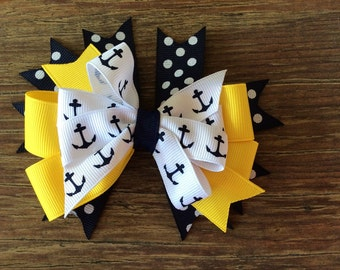 Navy and Yellow Nautical Bow