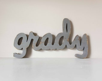 Wood Name Sign- Nursery, Baby Name, Children's Name, Home Decor