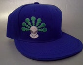 Crop Alien Fitted Hat made to order flat bill crop circle sacred geometry FREE SHIPPING