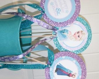 FROZEN INSPIRED Theme Happy Birthday or Baby Shower Centerpiece Sticks {Set of 3}