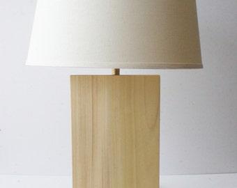 Natural Grain Table Lamp - Poplar
