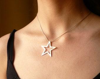 sterling silver choker star