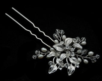 Bridal Hair Pin - Clear Rhinestone Crystal bridal hair Pin