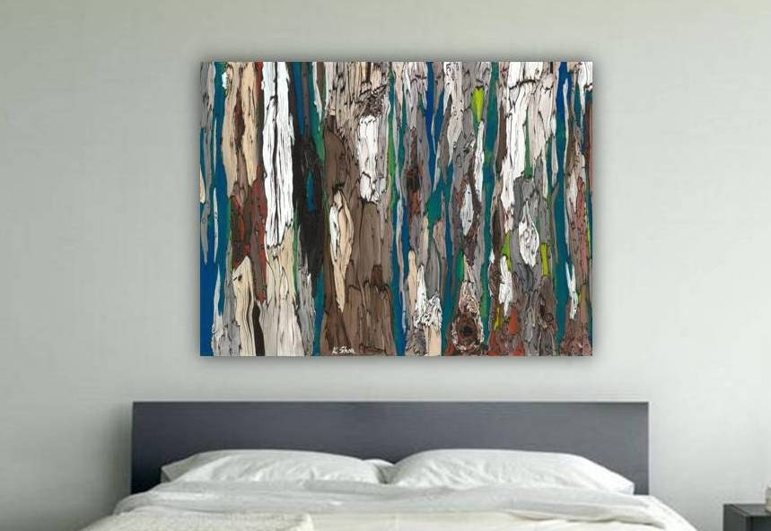 Teal And Brown Wall Art huge masculine extra large wall art canvas bedroom decor