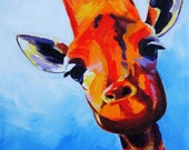 Curious Giraffe - Canvas Wall Art - Choose Your Size - By Corina St. Martin