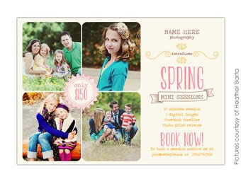 INSTANT DOWNLOAD - Photography Marketing board - Psd Newsletter  template - E708